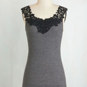 Modcloth Dessert Is Served Top in Charcoal in L